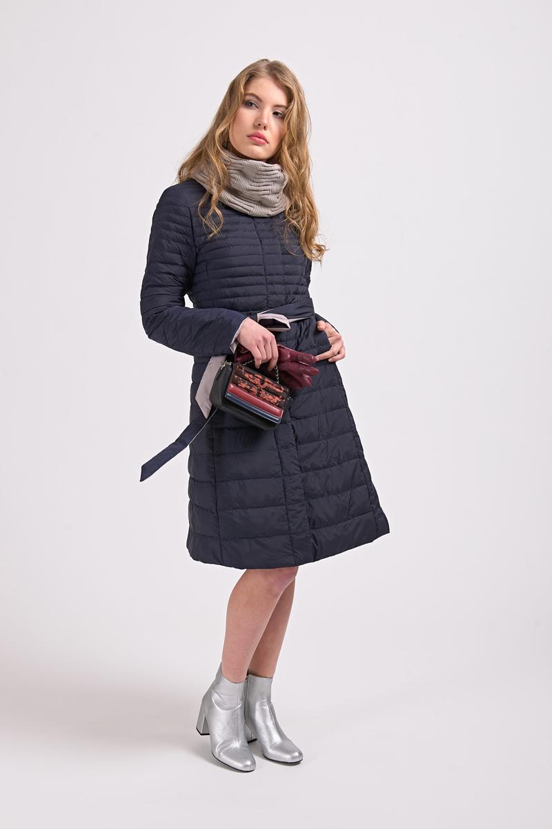 Куртка женская Elfina, цвет: темно-синий. 18008_28D. Размер 4418008_28D