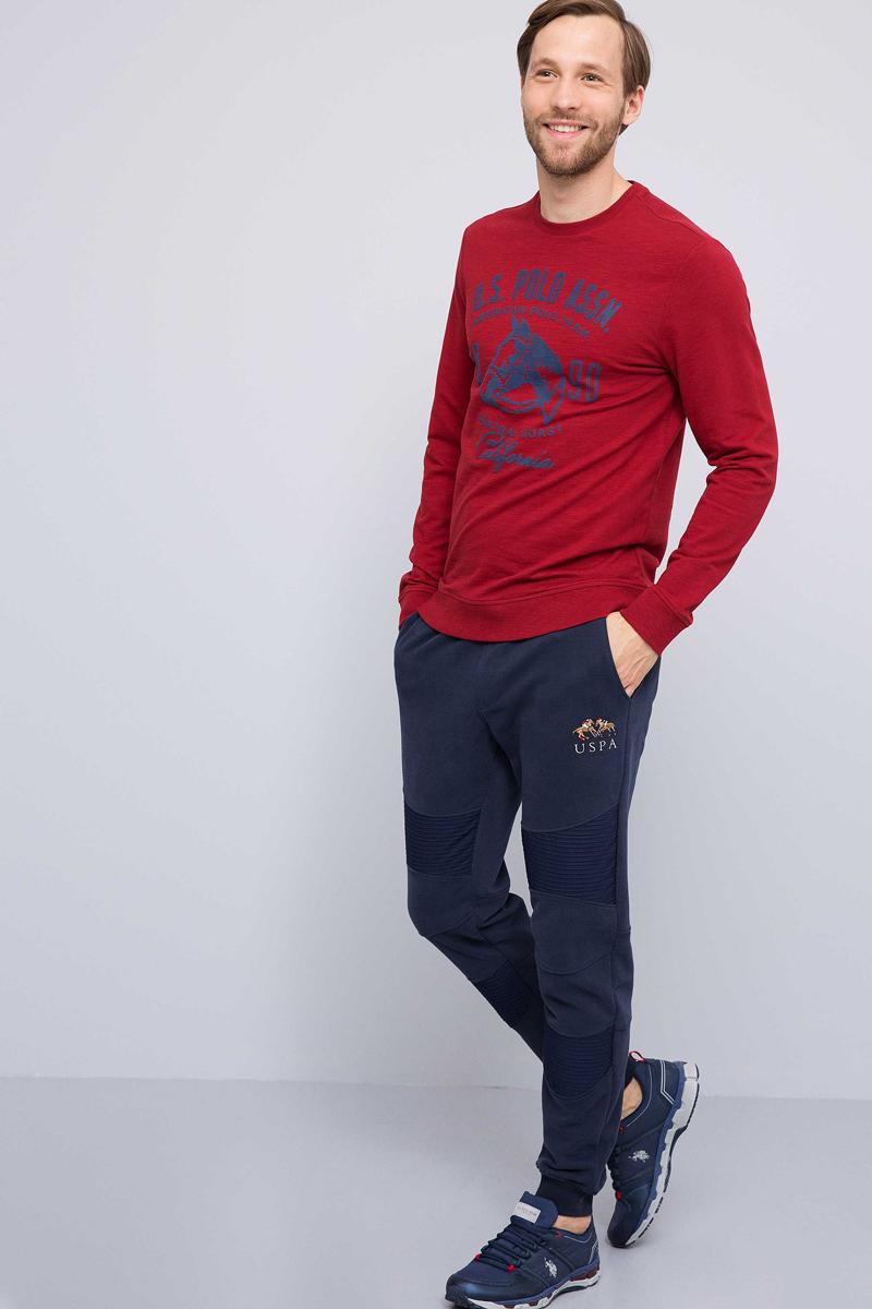 Свитшот мужской U.S. Polo Assn., цвет: бордовый. G081GL0820JAVEL. Размер XS (46)G081GL0820JAVEL