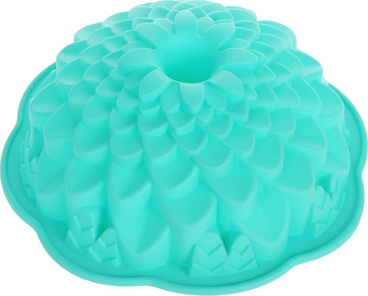 Форма для выпечки Marmiton Хризантема, цвет: мятный, диаметр 21,5 см16045_мятныйФигурная форма для выпечки Marmiton Хризантемабудетотличным выбором для всех любителей бисквитов икексов. Благодаря тому, что форма изготовлена изсиликона, готовую выпечку или мармелад выниматьлегко и просто. С такой формой вы всегда сможетепорадовать своих близких оригинальной выпечкой.Материал устойчив к фруктовым кислотам, можетбыть использован в духовках, микроволновых печах иморозильных камерах (выдерживает температуру от+240°C до -50°C). Можно мыть и сушить впосудомоечной машине.