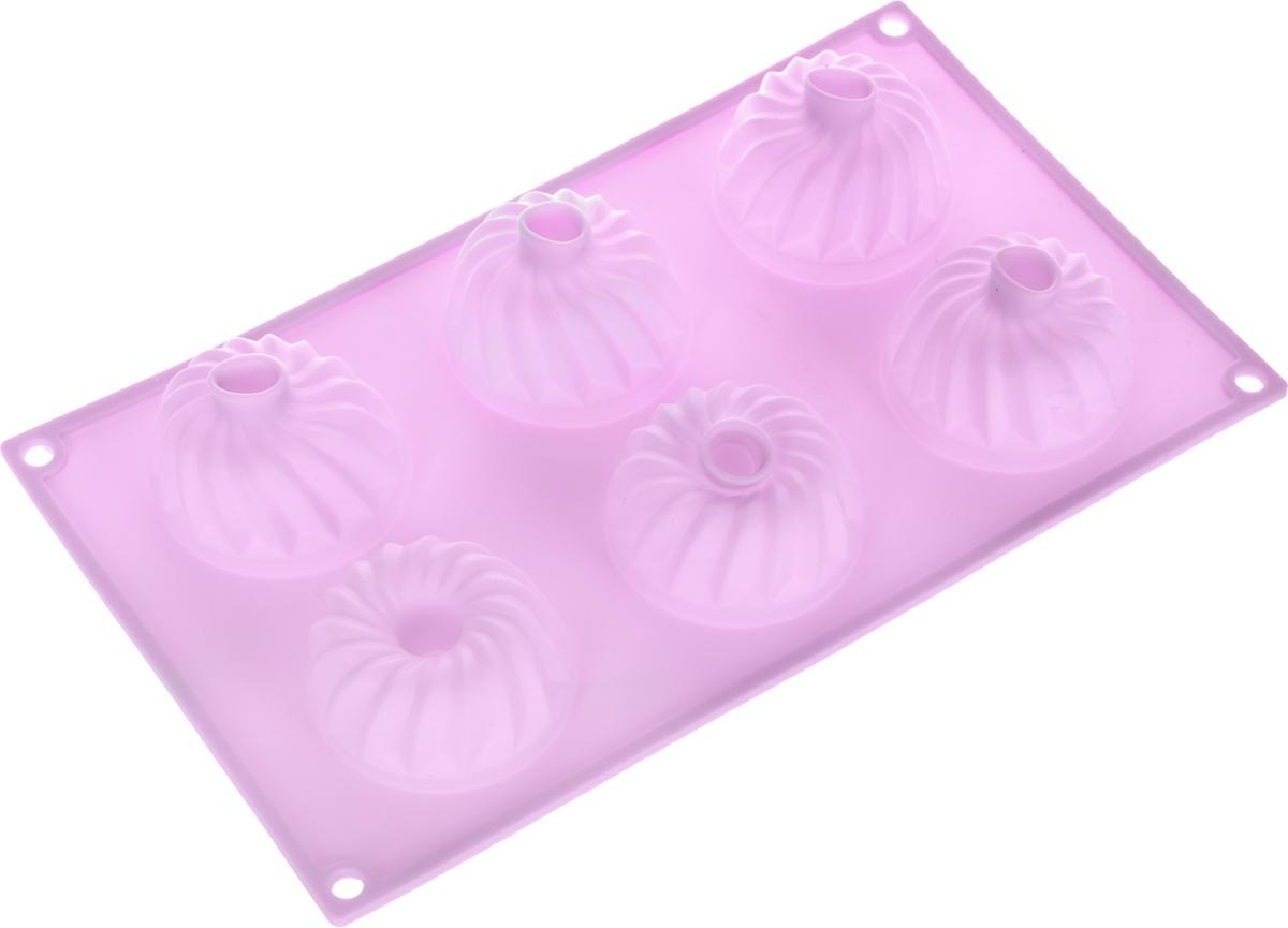 Форма для выпечки Marmiton Кекс, силиконовая, цвет: сиреневый, 6 ячеек16024_сиреневыйФорма для выпечки Marmiton Кекс, выполненная из силикона, будет отличным выбором для всех любителей бисквитов и кексов. Ячейки имеют форму кексов. Форма обладает естественными антипригарными свойствами. Неприлипающая поверхность идеальна для духовки, морозильника, микроволновой печи и аэрогриля. Готовую выпечку или мармелад вынимать легко и просто.С такой формой вы всегда сможете порадовать своих близких оригинальным изделием. Материал устойчив к фруктовым кислотам, может быть использован в духовках и микроволновых печах (выдерживает температуру от 230°C до - 40°C). Можно мыть и сушить в посудомоечной машине.Как выбрать форму для выпечки – статья на OZON Гид.