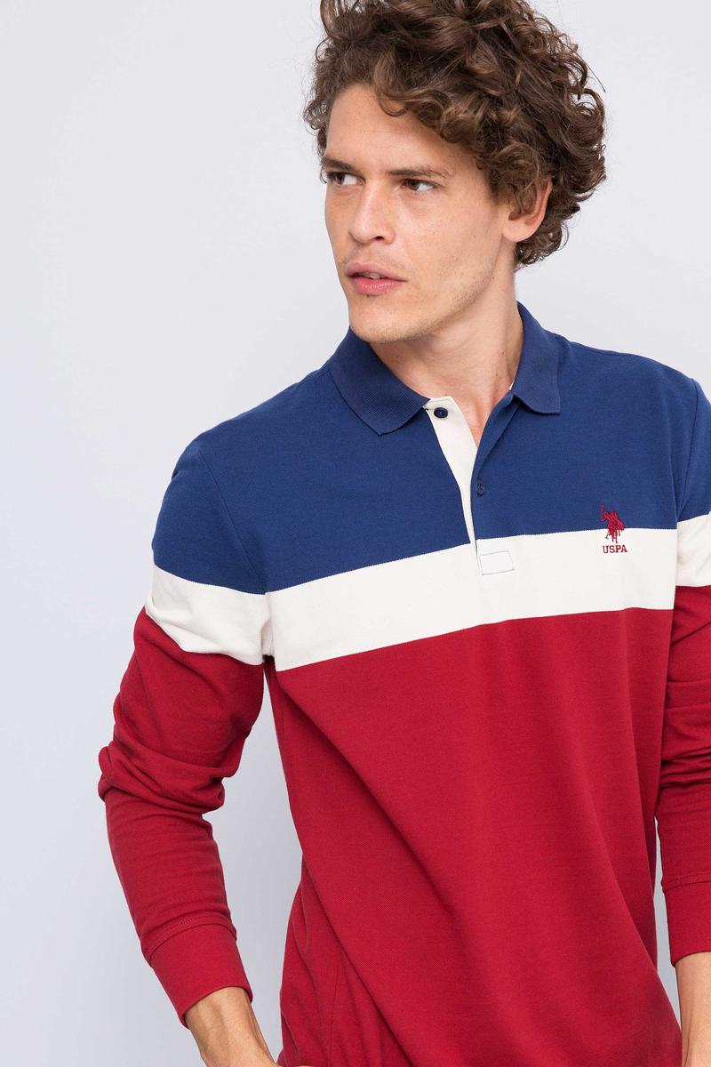 Лонгслив мужской U.S. Polo Assn., цвет: бордовый. G081GL0820JIMMY. Размер M (50)G081GL0820JIMMY