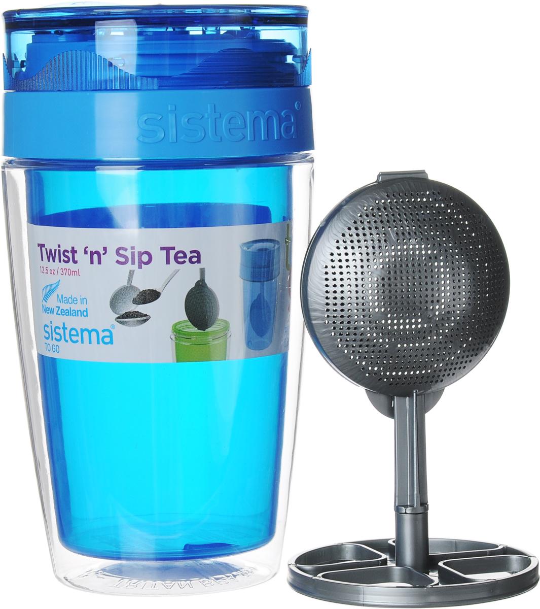 Термокружка Sistema Чай с собой, цвет: синий, 370 мл21476_синийТермокружка Sistema Чай с собой изготовлена изпрочного пищевого пластика без содержания фенола идругих вредных примесей. Двойные стенки изделияпозволяют напитку дольше оставаться горячим изащищают ваши руки от ожогов. Термокружка имеетуникальную запатентованную систему крышки TwistnSipTea, которая предотвращает выливание жидкости и в тоже время позволяет удобно пить напитки.С такой термокружкой вы сможете где угодно насладитьсячаем, изделие удобно брать с собой.Можно мыть в посудомоечной машине.
