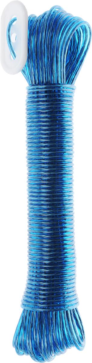 Бельевая веревка Rozenbal, пластиковая, с фиксатором, цвет: синий, 20 мR104020_синийБельевая веревка Rozenbal с фиксатором изготовлена из пластика. Изделие обладает высокой износостойкостью. Веревка крепкая и надежная, не провисает при натягивании.Длина: 20 м.