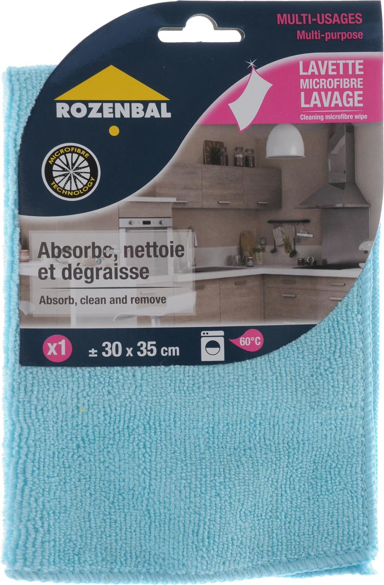 Салфетка Rozenbal, многофункциональная, цвет: голубой, 30 х 35 смR212761_голубойМногофункциональная салфетка Rozenbal предназначена для сухой и влажной уборки. В сухом виде - для удаления пыли, во влажном - для удаления загрязнений и полировки. Она устраняет жир, грязь без следа и разводов. Размер: 30 х 35 см.