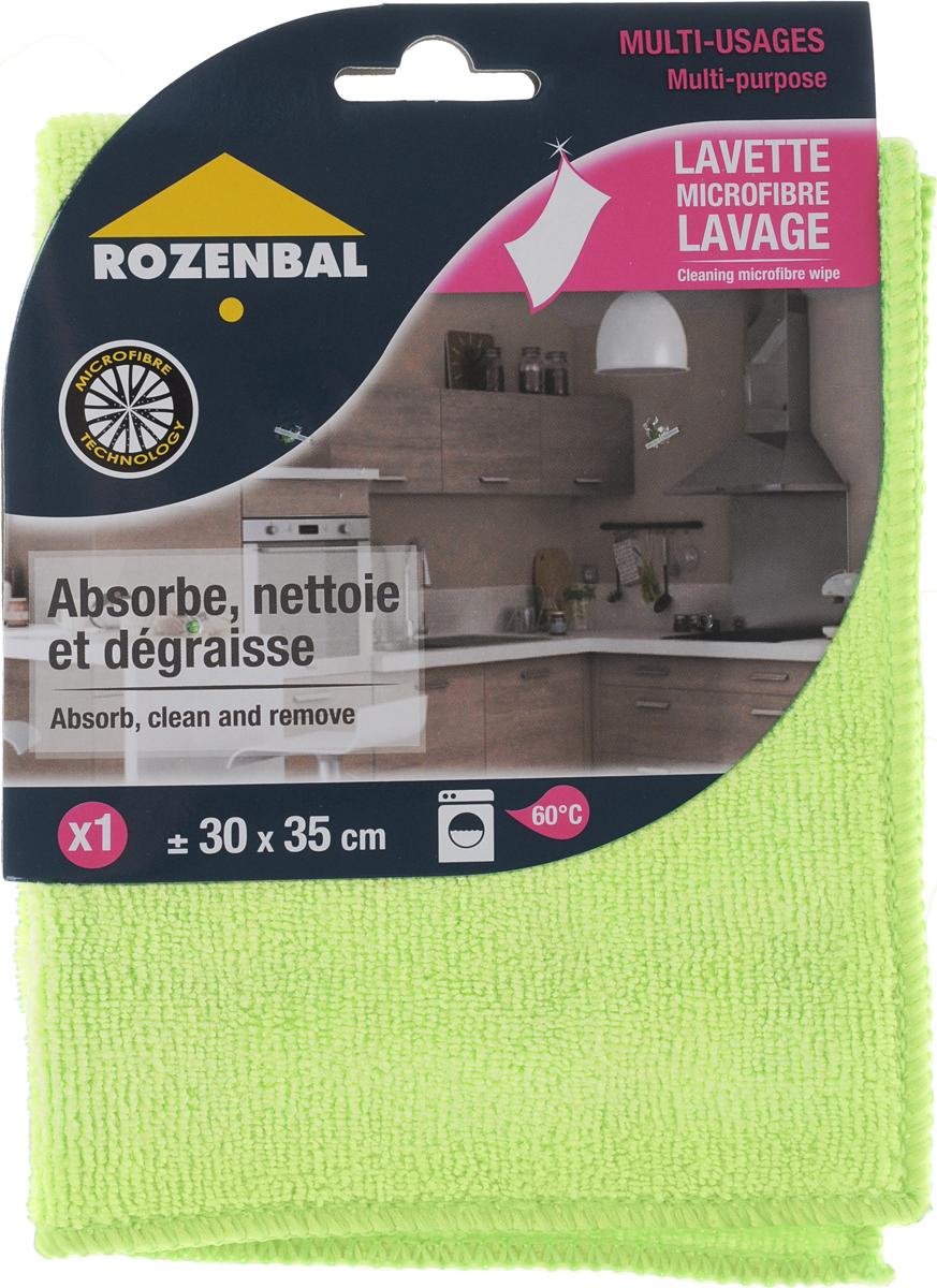 Салфетка Rozenbal, многофункциональная, цвет: лаймовый, 30 х 35 см