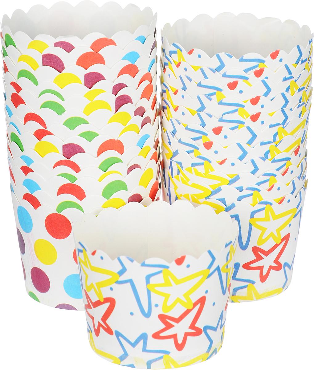 Набор форм для выпечки кексов Marmiton Люкс, цвет: мультиколор, 24 шт17054_мультиколлорНабор форм для выпечки кексов Marmiton Люкс, цвет: мультиколор, 24 шт