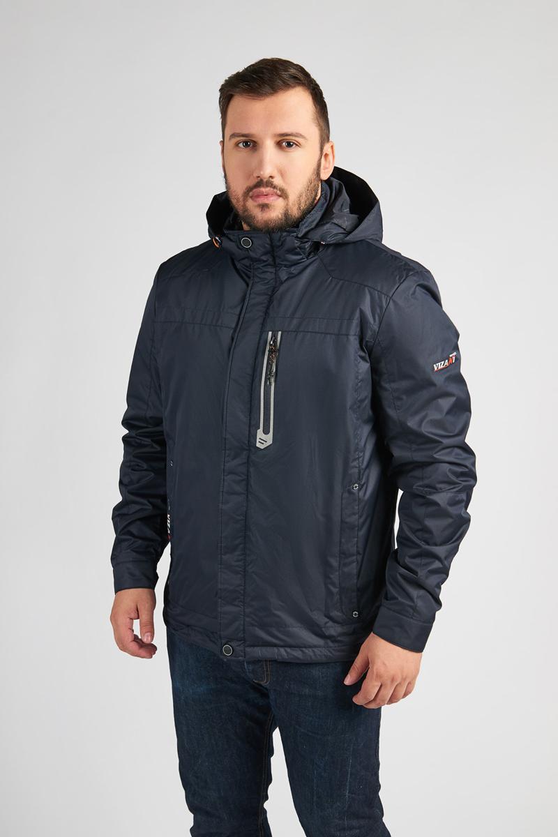 Куртка мужская Vizani, цвет: синий. VTC17-826_2NAVY/11RED. Размер 54VTC17-826_2NAVY/11REDМужская куртка Vizani выполнена из высококачественного материала. Модель с капюшоном застегивается на застежку-молнию и дополнительно ветрозащитным клапаном на кнопки. Куртка дополнена карманами.