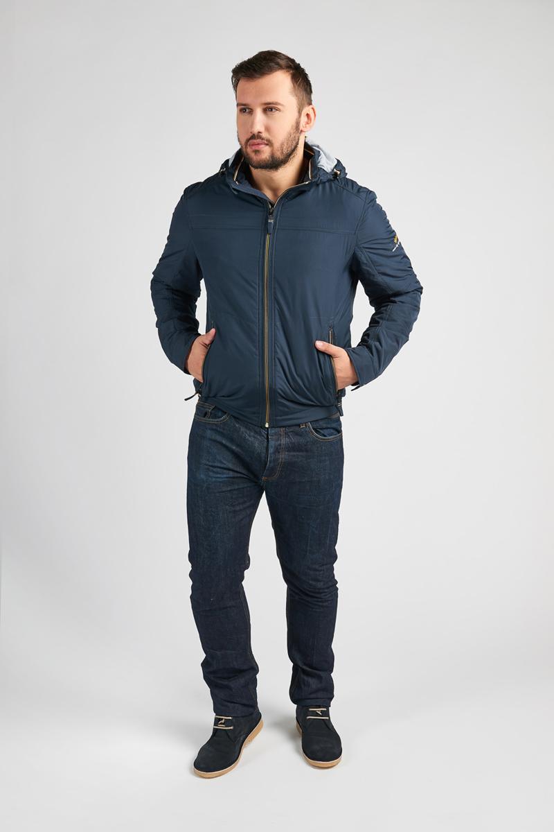 Куртка мужская Vizani, цвет: синий. VTC17-906_2NAVY/31ORANGE. Размер 58 куртка мужская vizani цвет синий vtc18 1284 2 navy размер 54