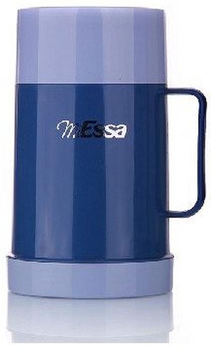 """Термос MiEssa """"Aqua"""" изготовлен из нержавеющей стали и пластика. В этом термосе применена система высококачественной вакуумной изоляции. Термос помогает сохранить температуру в течение 12 часов для горячих напитков и 24 часов для холодных.  Особенностью термоса является наличие герметичной разборной пробки-стопора клапанного типа для удобного наливания напитков."""