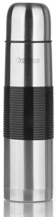 """Термос MiEssa """"Охота"""" изготовлен из нержавеющей стали и пластика. В этом термосе применена система высококачественной вакуумной изоляции. Термос помогает сохранить температуру в течение 12 часов для горячих напитков и 24 часов для холодных.  Особенностью термоса является наличие герметичной разборной пробки-стопора клапанного типа для удобного наливания напитков."""