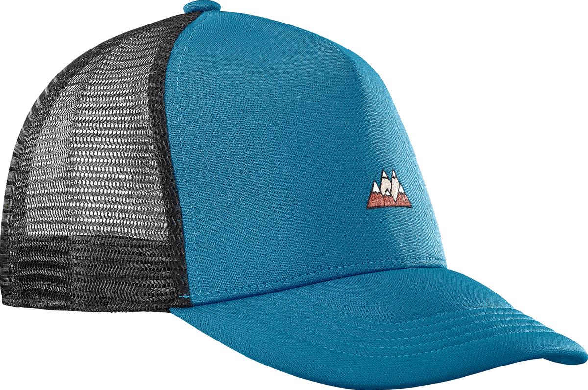 Бейсболка Salomon Cap Summer Logo Cap M, цвет: голубой, черный. L40046400. Размер универсальныйL40046400Бейсболка Salomon является отличным аксессуаром для занятий спортом. Удобная и практичная, она обеспечит вам надежную защиту от неблагоприятных погодных условий. Сетчатая конструкция обеспечивает циркуляцию воздуха в жаркие дни. Регулируется по объему головы.
