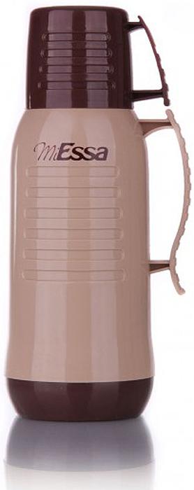 Термос MiEssa Aqua, цвет: бежевый, коричневый, 1 л. MEP100MEP100Термос MiEssa Aqua изготовлен из нержавеющей стали и пластика. В этом термосе применена система высококачественной вакуумной изоляции. Термос помогает сохранить температуру в течение 12 часов для горячих напитков и 24 часов для холодных.Особенностью термоса является наличие герметичной разборной пробки-стопора клапанного типа для удобного наливания напитков.