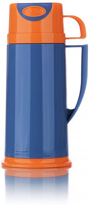 Термос MiEssa Aqua, с кружками, цвет: голубой, оранжевый, 1,8 л. MSH180MSH180Термос MiEssa Aqua изготовлен из нержавеющей стали и пластика. В этом термосе применена система высококачественной вакуумной изоляции. Термос помогает сохранить температуру в течение 12 часов для горячих напитков и 24 часов для холодных.Особенностью термоса является наличие герметичной разборной пробки-стопора клапанного типа для удобного наливания напитков.