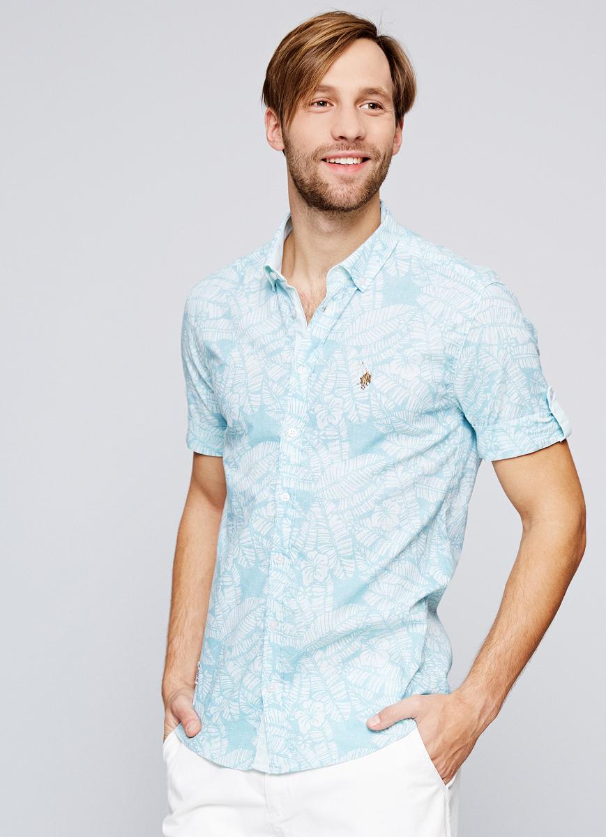 Рубашка мужская U.S. Polo Assn., цвет: голубой. G081SZ004ACTOLOTY. Размер L (52)G081SZ004ACTOLOTY