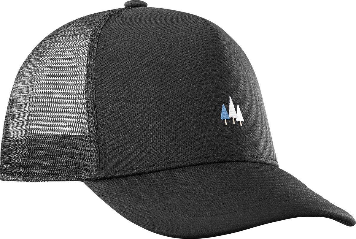 Бейсболка Salomon Cap Summer Logo Cap M, цвет: черный. L40046300. Размер универсальныйL40046300Бейсболка Salomon является отличным аксессуаром для занятий спортом. Удобная и практичная, она обеспечит вам надежную защиту от неблагоприятных погодных условий. Сетчатая конструкция обеспечивает циркуляцию воздуха в жаркие дни. Регулируется по объему головы.