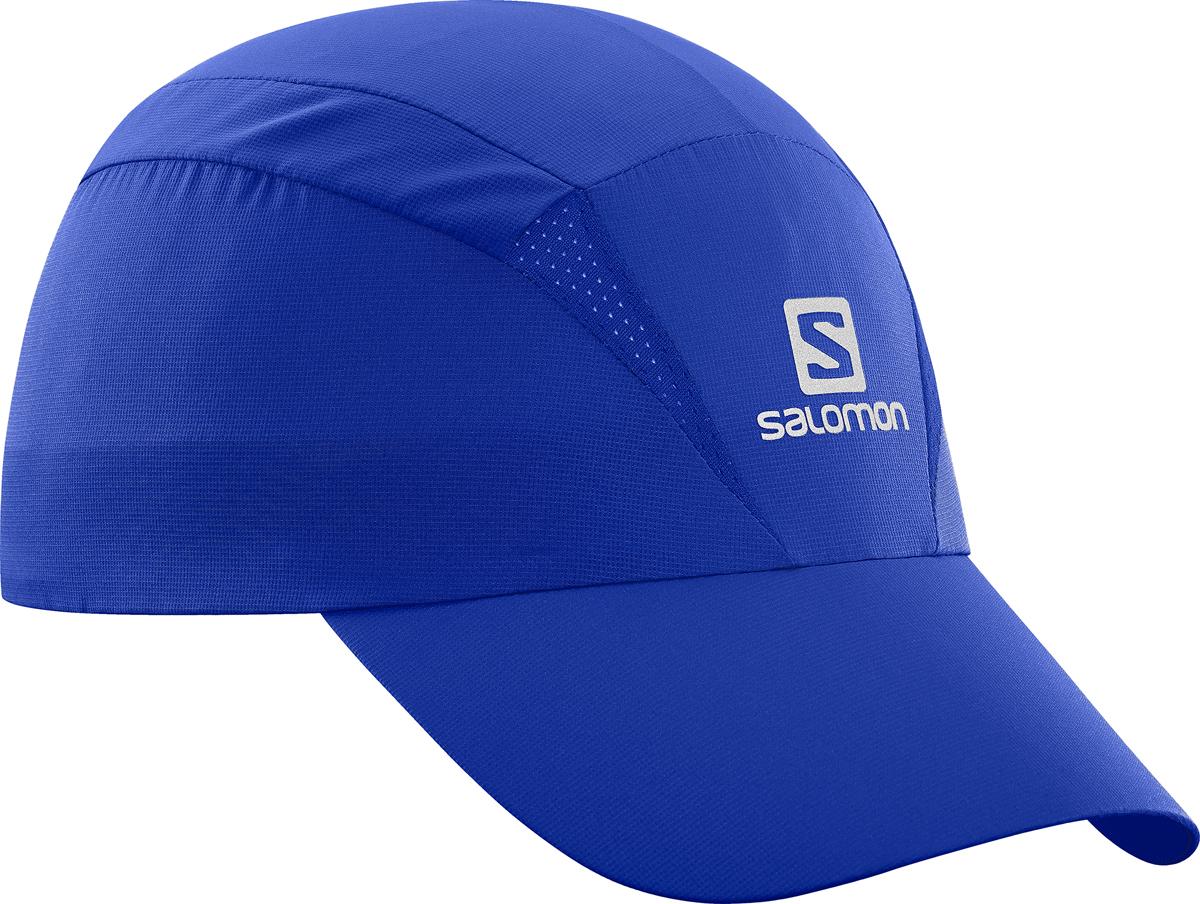 Бейсболка Salomon Cap Xa, цвет: синий. L40044600. Размер S/M (54)L40044600Бейсболка Salomon является отличным аксессуаром для занятий спортом. Удобная и практичная, она обеспечит вам надежную защиту от неблагоприятных погодных условий. Новый силуэт, легкая быстросохнущая бейсболка позволяет чувствовать комфорт во время бега. Дополнительная вентиляция для жарких условий. Солнцезащитный материал с фактором UPF 50.
