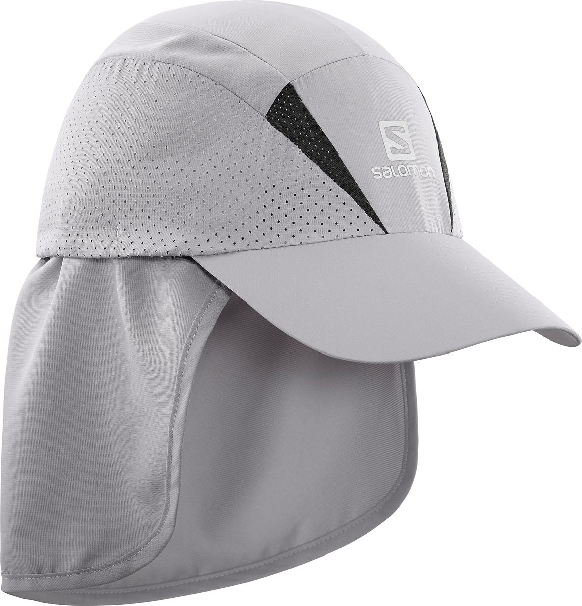 Бейсболка Salomon Cap Xa+, цвет: серый. L40048500. Размер L/XL (59)L40048500Бейсболка Salomon является отличным аксессуаром для занятий спортом. Удобная и практичная, она обеспечит вам надежную защиту от неблагоприятных погодных условий. Новый силуэт, легкая быстросохнущая бейсболка позволяет чувствовать комфорт во время бега. Дополнительная вентиляция для жарких условий. Изделие дополнено съемной вставкой для защиты шеи.