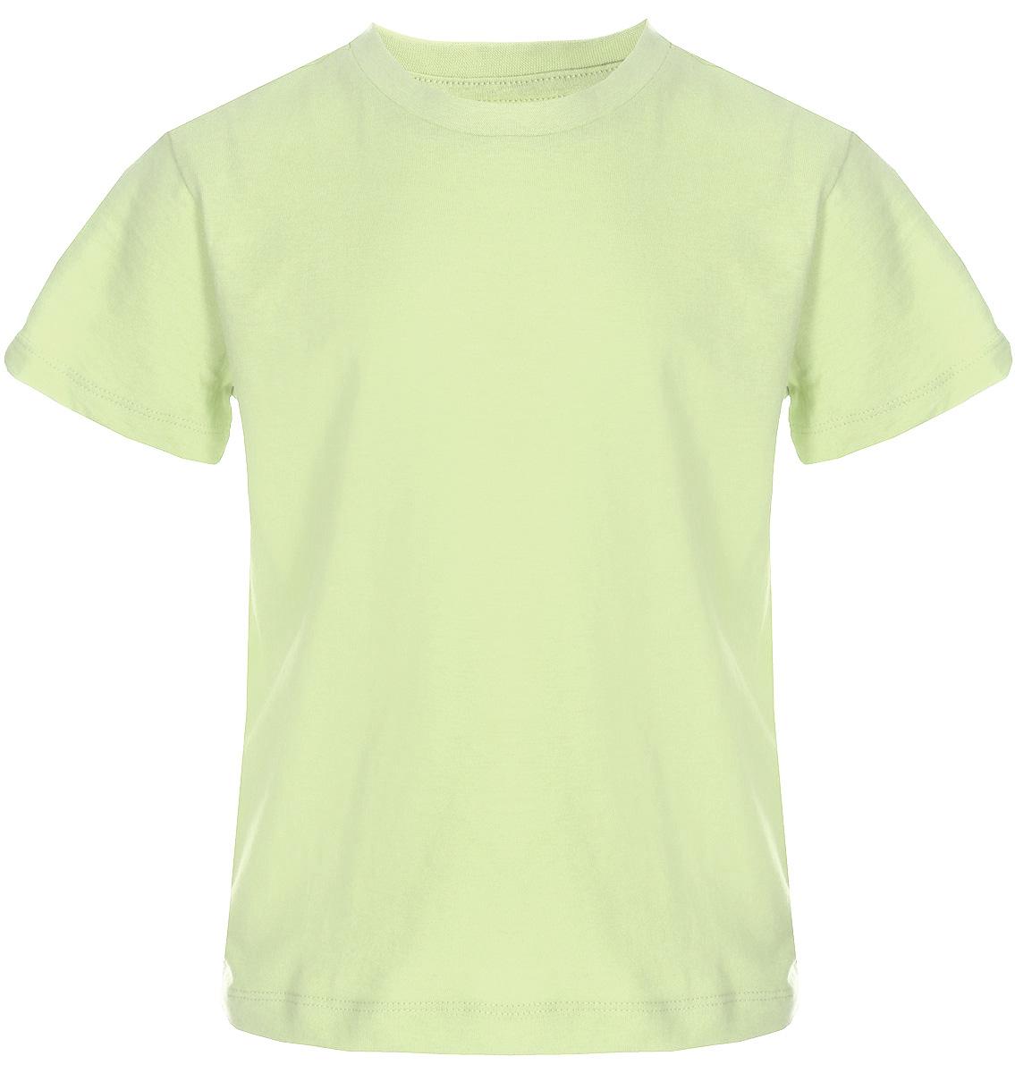 Футболка для мальчика Sela, цвет: желтый. Ts-711/533-8223. Размер 98Ts-711/533-8223Футболка для мальчика Sela выполнена из натурального хлопка. Модель с круглым вырезом горловины и короткими рукавами.