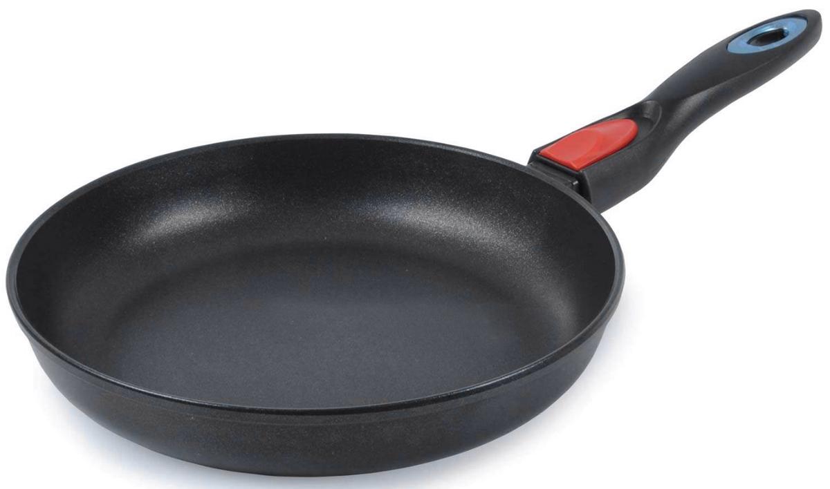 """Сковорода TimA """"Оптима"""" - это оптимальное сочетание цены штампованной и качества литой сковороды. Сковорода """"Оптима"""" - универсальная сковорода.  В сковороде """"Оптима"""" можно жарить яичницу, разогревать пищу также хорошо, как в штампованных сковородах.  Ломтики картошки, пожаренной на сковороде """"Оптима"""", такие же вкусные и красивые, а мясо сочное и ароматное, с золотистой корочкой, как после жарки на дорогой литой сковороде. Соусы и овощи, приготовленные в сковороде """"Оптима"""", по вкусу практически неотличимы от приготовленных в специальной посуде, а тушеная капуста порадует своим вкусом самого утонченного гурмана. Сковорода серии """"Оптима"""" имеет двухслойное антипригарное покрытие """"ЕСО"""" (Германия), которое является одним из лучших в своём классе. Оно не содержит вредных компонентов, а срок службы увеличен за счет применения особого грунтовочного слоя."""