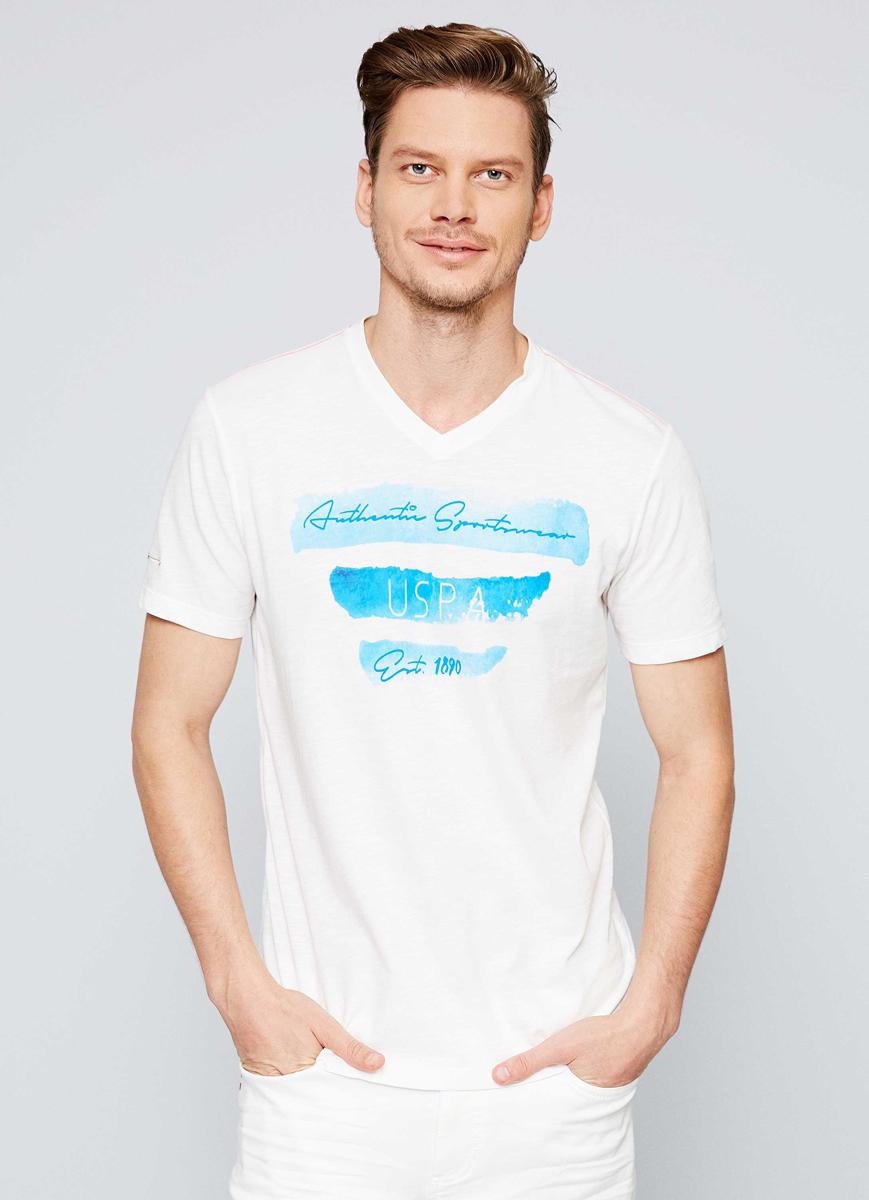 Футболка мужская U.S. Polo Assn., цвет: белый. G081SZ0110AGUSTIN. Размер XXS (44)G081SZ0110AGUSTIN