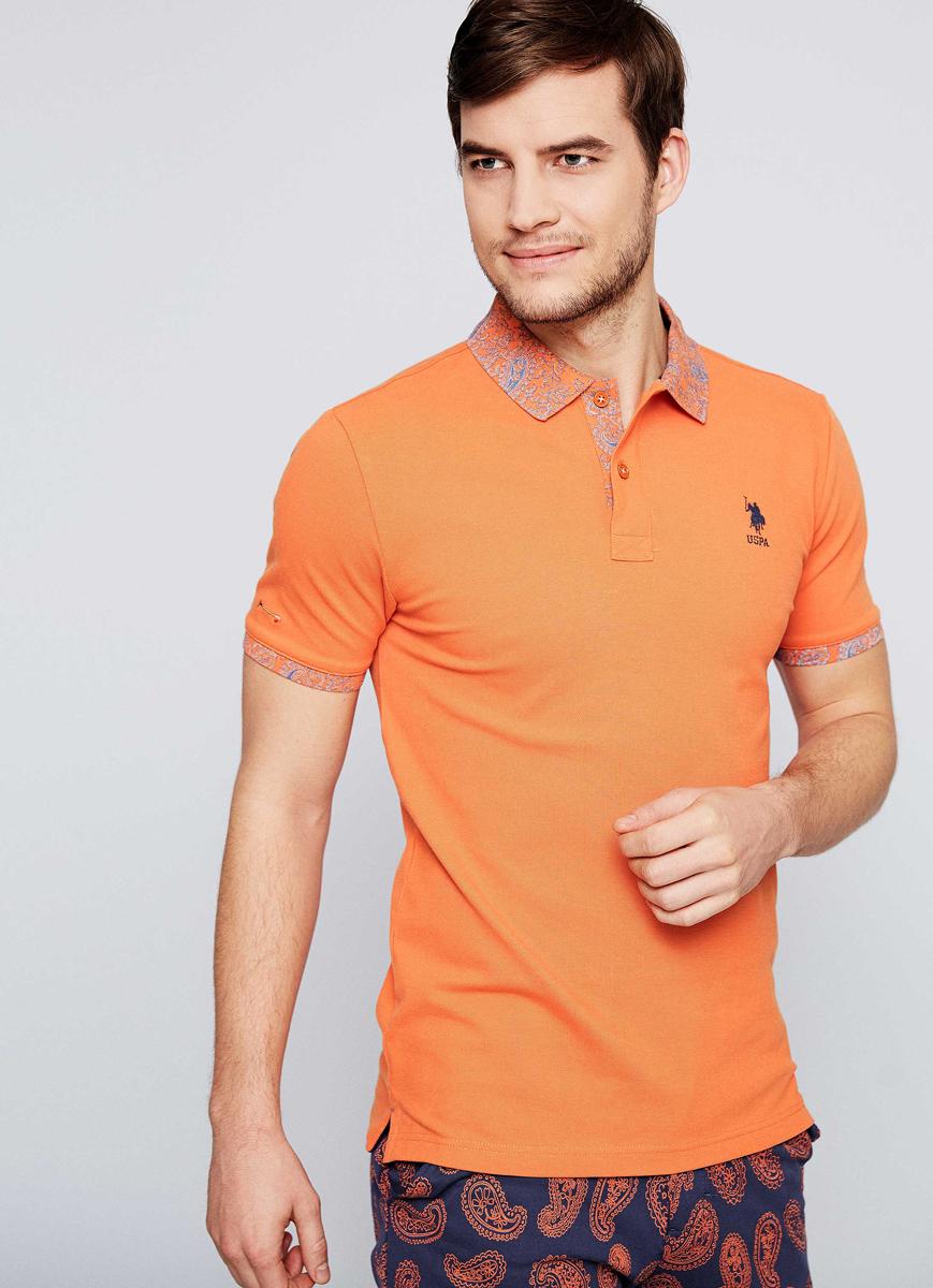 Поло мужское U.S. Polo Assn., цвет: оранжевый. G081SZ0110DANTE. Размер XS (46) luhta брюки для девочек luhta kirsi