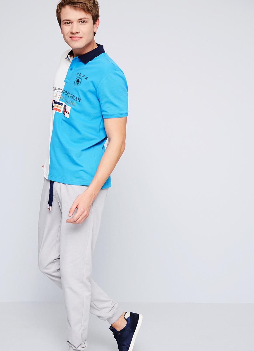 Поло мужское U.S. Polo Assn., цвет: голубой. G081SZ0110ELVIO. Размер XXS (44) рюкзак picard 9809 113 001 schwarz