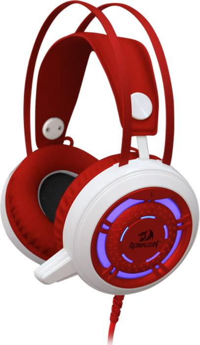 Redragon Sapphire, White Red игровая гарнитура64206Redragon Sapphire - стильная проводная гарнитура белого цвета с подсветкой корпуса.Светодиодная подсветка корпуса наушниковИдеально для киберспорта.Наушники не пропускают внешние шумы и обеспечивают максимальную звукоизоляцию. Это позволяетиспользовать их в шумных условиях, а также в тех случаях, когда необходимо полностью сосредоточиться на игреНаправленный микрофон, обеспечивающий высокое качество речи.Выведите коммуникацию с партнерами по игре на новый уровеньРегулятор громкости звукаВам не придется переключаться на управление компьютером, чтобы отрегулировать уровень громкостиЛегкая установка. Для работы не нужны драйверыПросто подключите гарнитуру к компьютеру и сразу играйте!