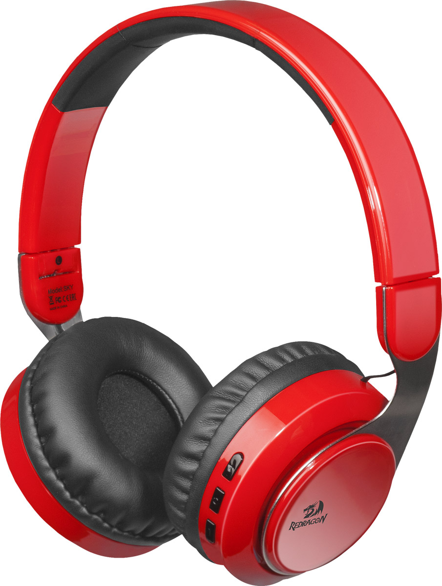 Redragon Sky R, Black Red Bluetooth-гарнитура