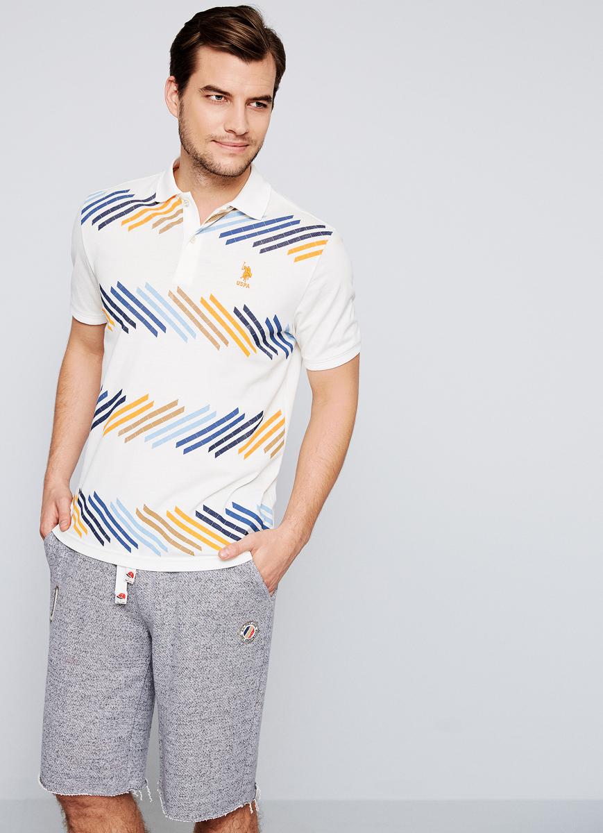 Поло мужское U.S. Polo Assn., цвет: желтый. G081SZ0110HUNG. Размер XXS (44)G081SZ0110HUNGПриталенная мужская футболка-поло с отложным воротничком из 100% хлопка отлично подойдет для создания повседневного образа.