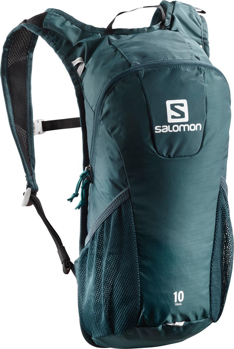 Рюкзак спортивный Salomon Bag Trail 10, цвет: зеленый. L40134200L40134200;L40134200Если вещь работает - ее не нужно исправлять! Давно полюбившийся бегунам рюкзак получил новый обтекаемый силуэт. Bag Trail 10 сбалансированно распределяет нагрузку, прост в использовании, предлагает быстрый доступ в основное отделение и набедренные карманы на поясе. Идеально подходит для забегов на средние дистанции и однодневных походов по любым маршрутам. Комфорт.Bag Trail 10 настолько легок и удобен, что вы едва чувствуете его вес.Устойчивость.Обтекаемый силуэт, широкий пояс и спинка Airvent Agility гарантируют устойчивость содержимого в движении.Универсальность.Bag Trail 10 - отличный компаньон для путешествий, походов, приключений и исследования новых мест. Особенности:-спинка Airvent Agility,-плечевые ремни из сетчатого материала 3D Airmesh, -регулируемый пояс,-1 основное отделение,-2 боковых сетчатых кармана,-отделение для гидратора с системой фиксации,-система фиксации гидратора,-светоотражающие элементы,-эластичная сетчатая ткань 3D Mesh,-нейлон мини рипстоп 100D Nylon Mini Ripstop, водонепроницаемость 500 мм,-нейлон рипстоп 210D Fancy, водостойкость 500 мм,-материал 600D Heather с меланжевой фактурой, водостойкость 500 мм,-сетчатая ткань Flat Mesh.