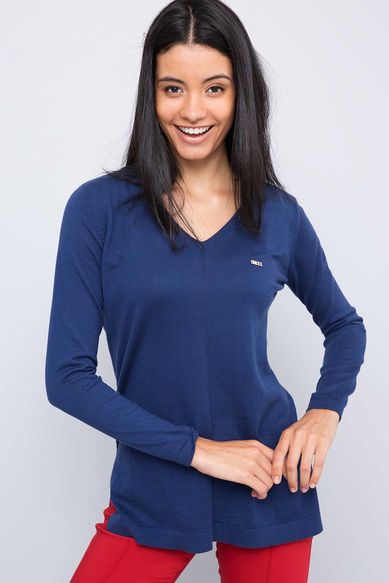 Пуловер женский U.S. Polo Assn., цвет: темно-синий. G082GL0TK0SILVANASK7. Размер L (48)