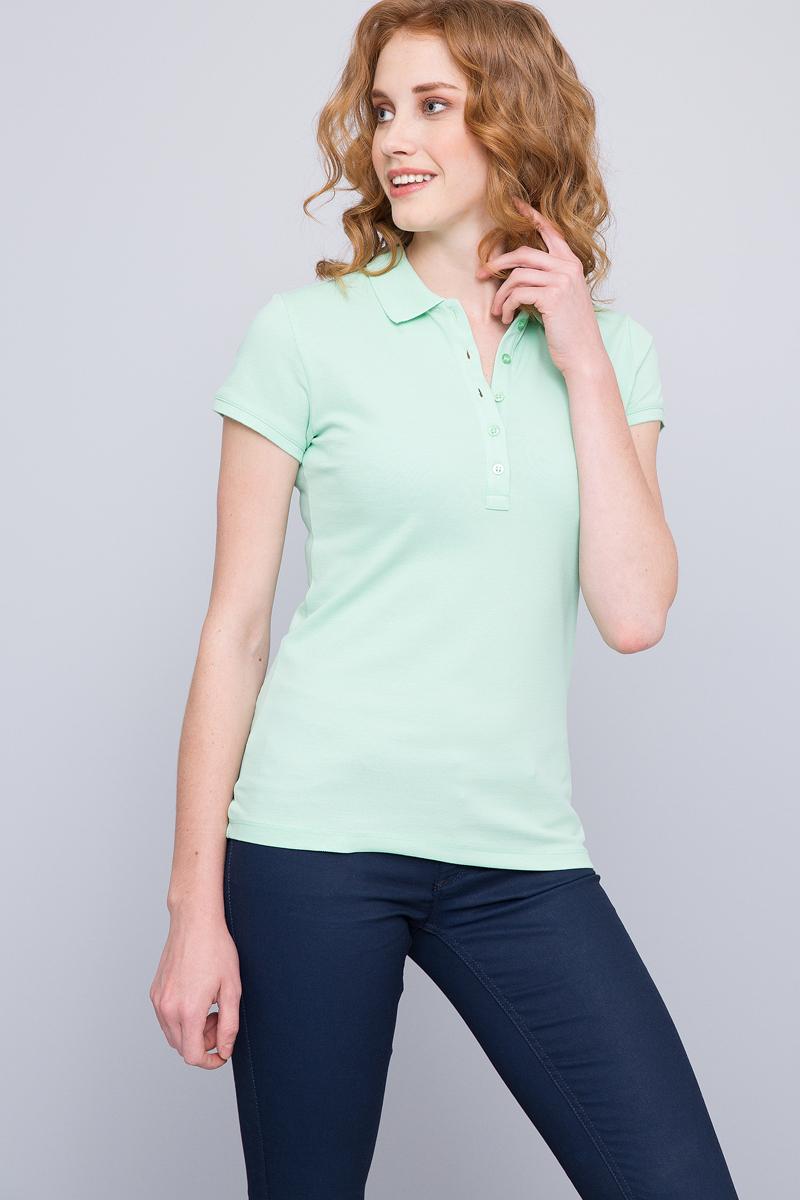 Поло женское U.S. Polo Assn., цвет: светло-зеленый. G082GL0110GTP-IY07. Размер XS (42)G082GL0110GTP-IY07Приталенная женская футболка-поло с отложным воротничком выполнена из 100% хлопка, отлично подойдет для создания повседневного образа.