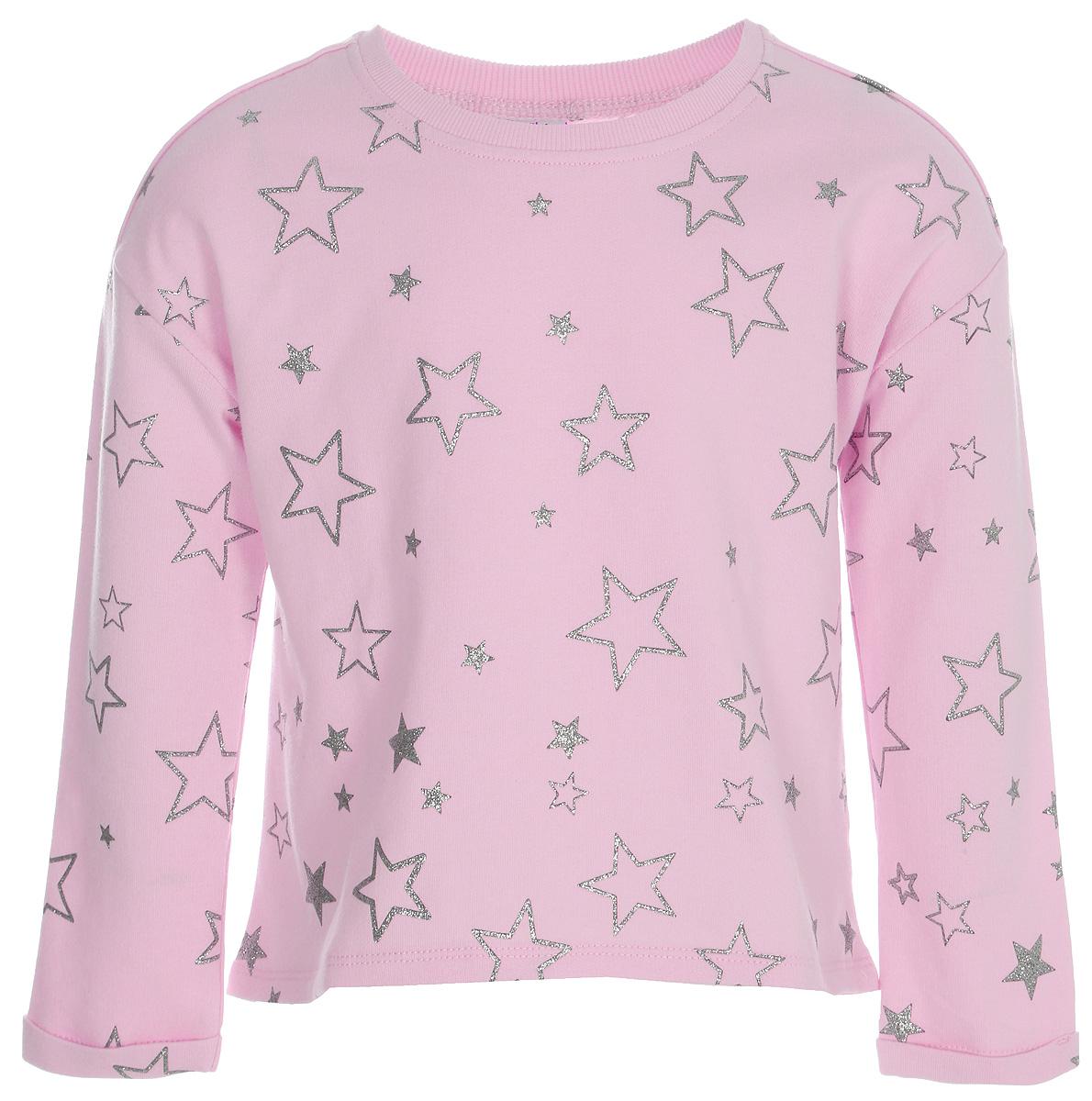 Джемпер для девочки Sela, цвет: розовый. St-513/376-8121. Размер 98St-513/376-8121Джемпер для девочки Sela выполнен из качественного материала. Модель с круглым вырезом горловины и длинными рукавами.