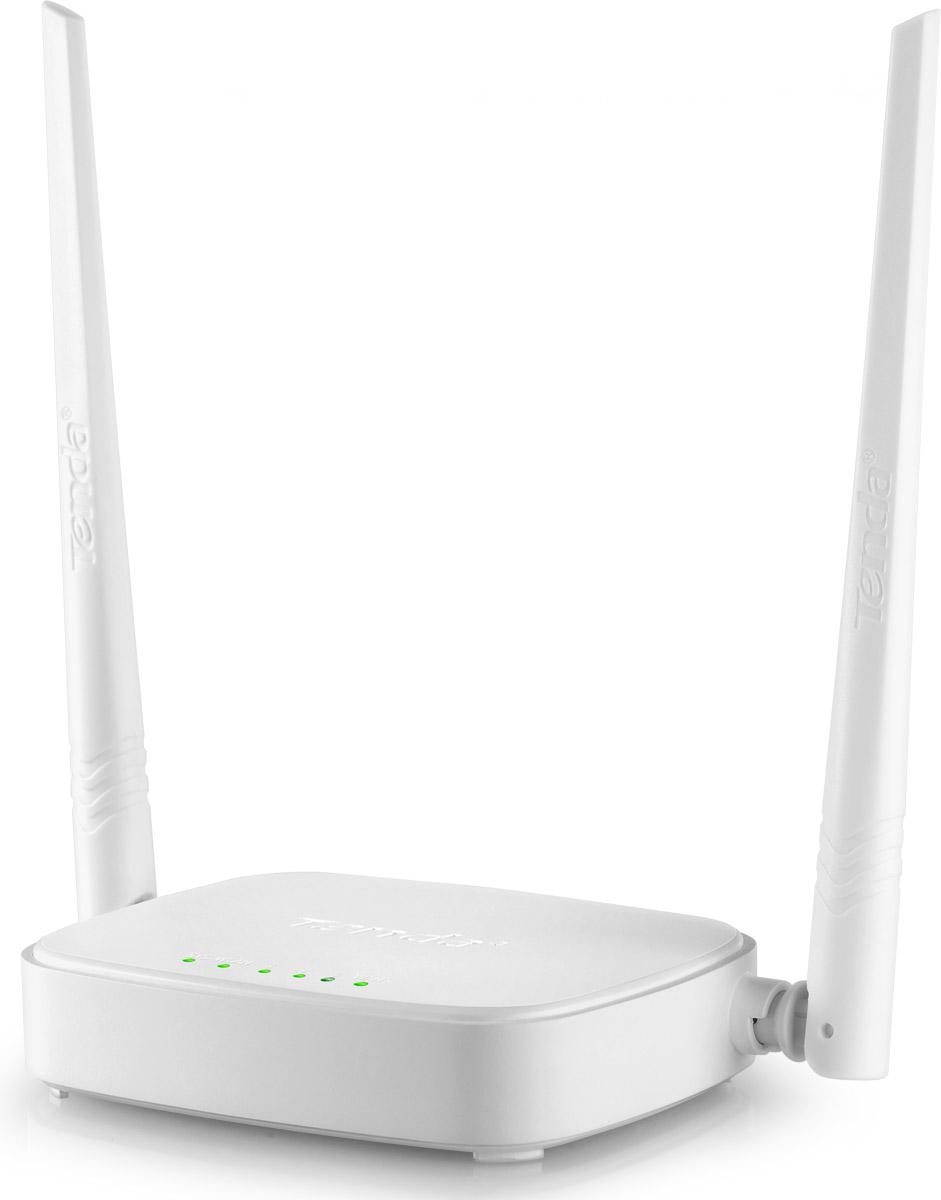 Tenda N301 домашний беспроводной маршрутизатор257918Tenda N301 – простой беспроводной маршрутизатор N стандарта с легкой настройкой. Он разработан для домашних пользователей и обеспечивает скорость беспроводного соединения до 300 Мбит/c. Это делает N301 идеальным решением для повседневной работы и развлечений в Интернет – таких как e-mail, чаты, просмотр видео, онлайн игры и т.д. Для защиты данных N301 располагает многоуровневыми вариантами шифрования, предотвращающими несанкционированный доступ в Вашу Wi-Fi сеть:1. 64/128 бит WEP, WPA-PSK, WPA2-PSK.2. Контроль беспроводного доступа на основе MAC-адреса беспроводного адаптера. Совместимый со стандартом безопасной настройки беспроводной сети WI-FI Protected Setup (WPS) – особенность N301, которая позволяет пользователям практически мгновенно простым нажатием на кнопку WPS автоматически установить параметры безопасности. Это быстрее, чем обычная настройка, и удобнее, так как не нужно запоминать пароль.Родительский контрольПоддерживает фильтрацию пользователей, MAC адресов, веб-сайтов. Вы можете установить различные правила доступа – например, время использования Интернет и другие. N301 может работать как маршрутизатор, подключенный к Интернет-провайдеру, или как точка доступа Wi-Fi, обеспечивая Интернет в нужном месте. Для создания домашней Wi-Fi сети подключите модем Интернет-провайдерак маршрутизатору Tenda N301. Маршрутизатор передает Wi-Fi сигнал, позволяя с легкостью подключать к Интернет ваши беспроводные устройства и смартфоны.