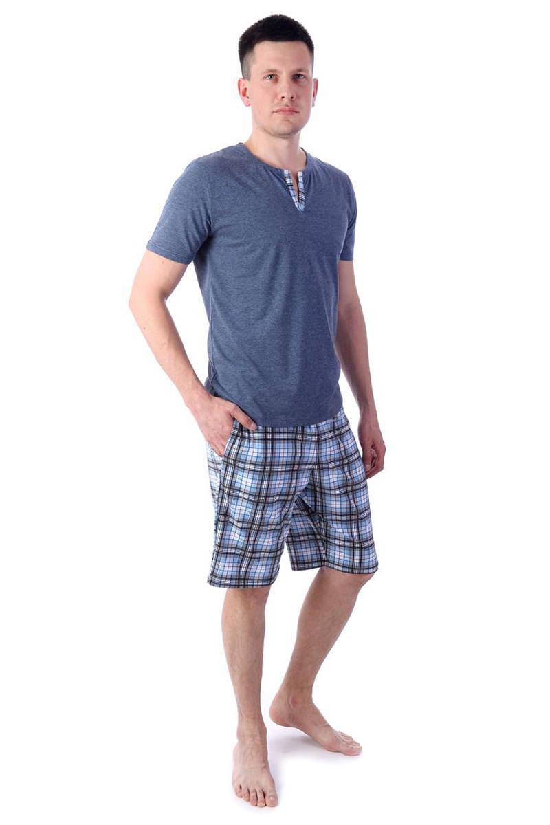 Купить Домашний комплект мужской Melado Давид, цвет: темно-синий. MK2693/01. Размер 50