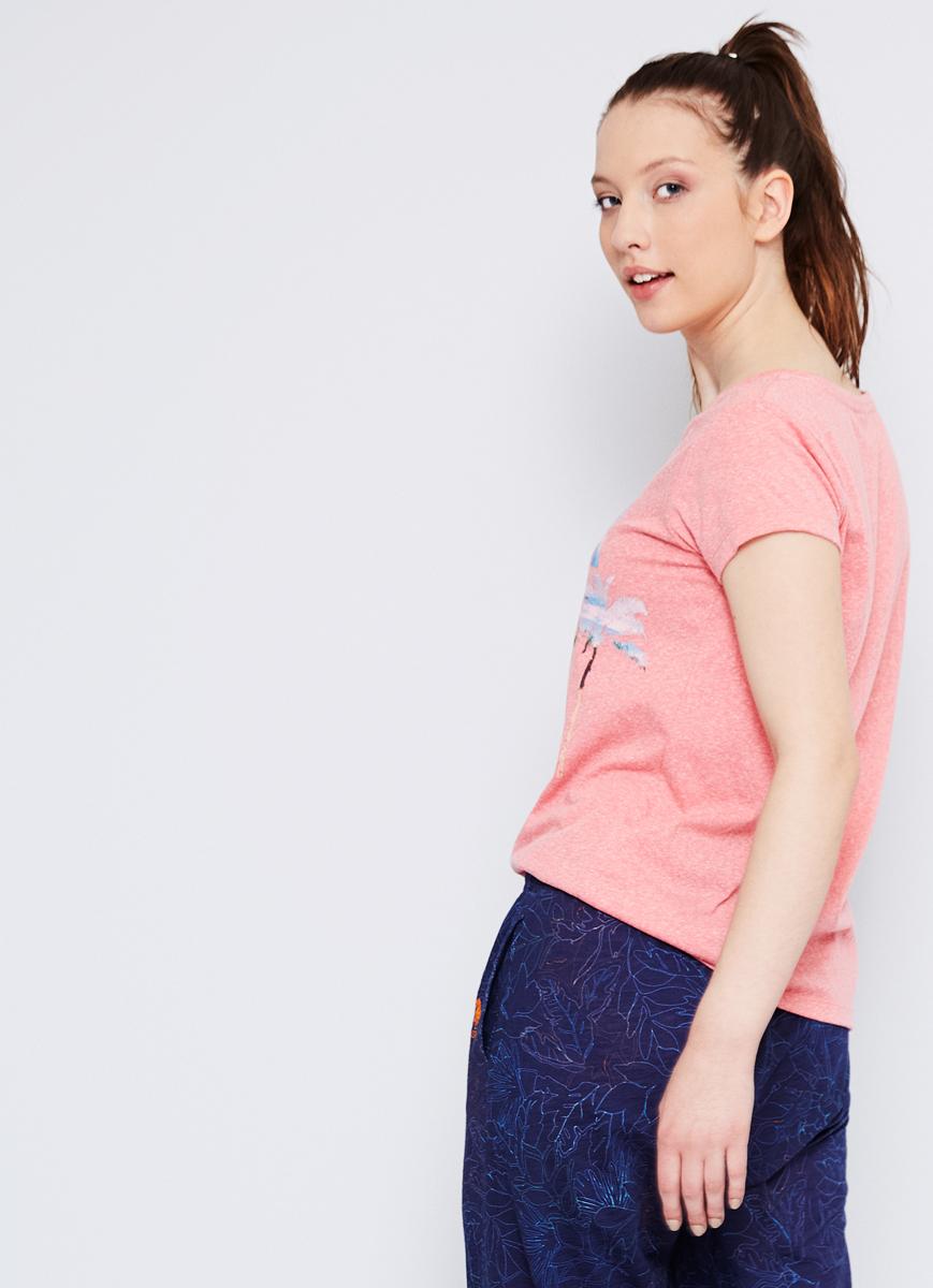 Футболка женская U.S. Polo Assn., цвет: розовый. G082SZ0110CENTIL. Размер M (46)G082SZ0110CENTIL