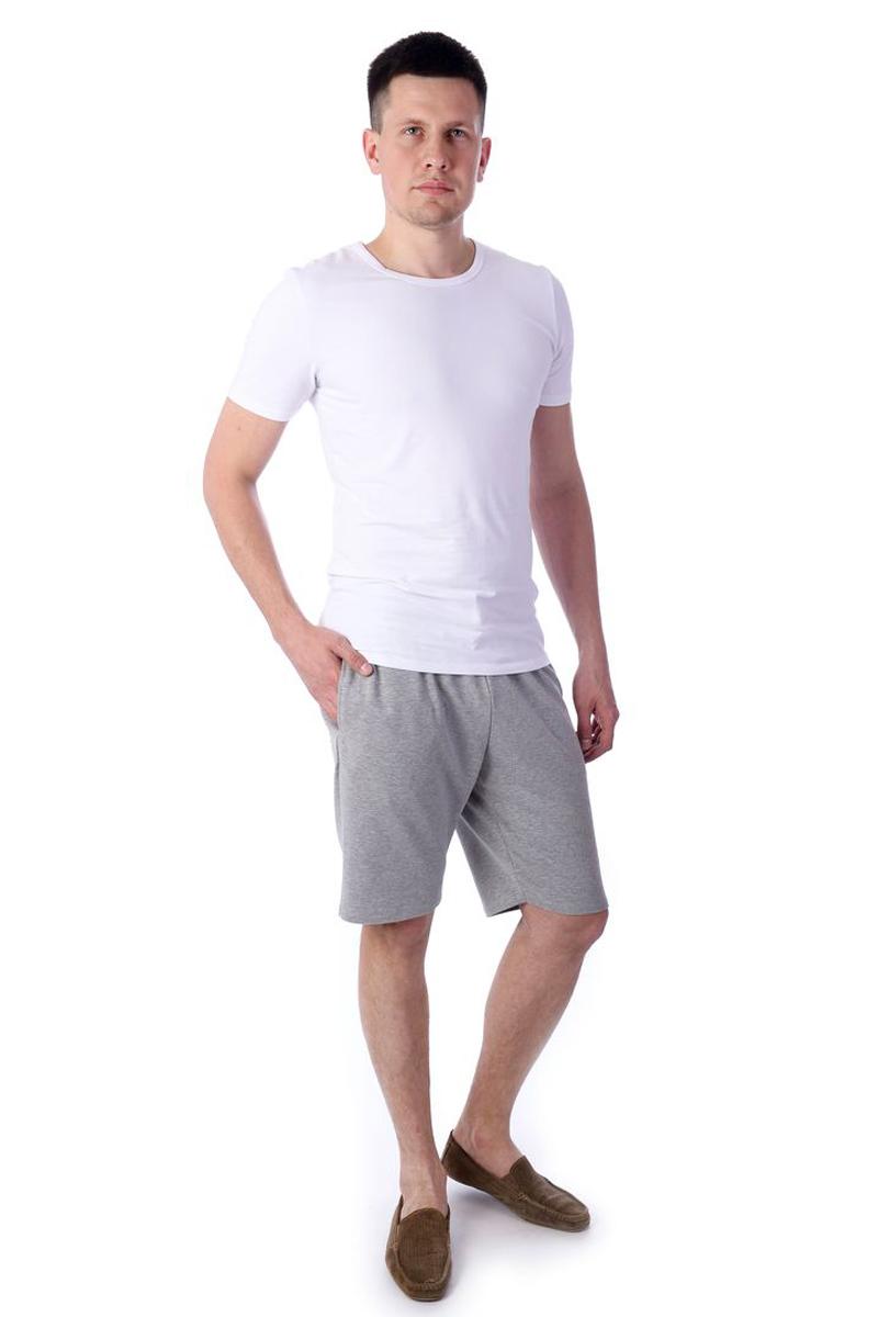 Шорты для дома мужские Melado Гермес, цвет: серый. MF2690/02. Размер 52MF2690/02Удобные шорты для дома из приятного натурального полотна. Пояс на широкой мягкой тесьме.