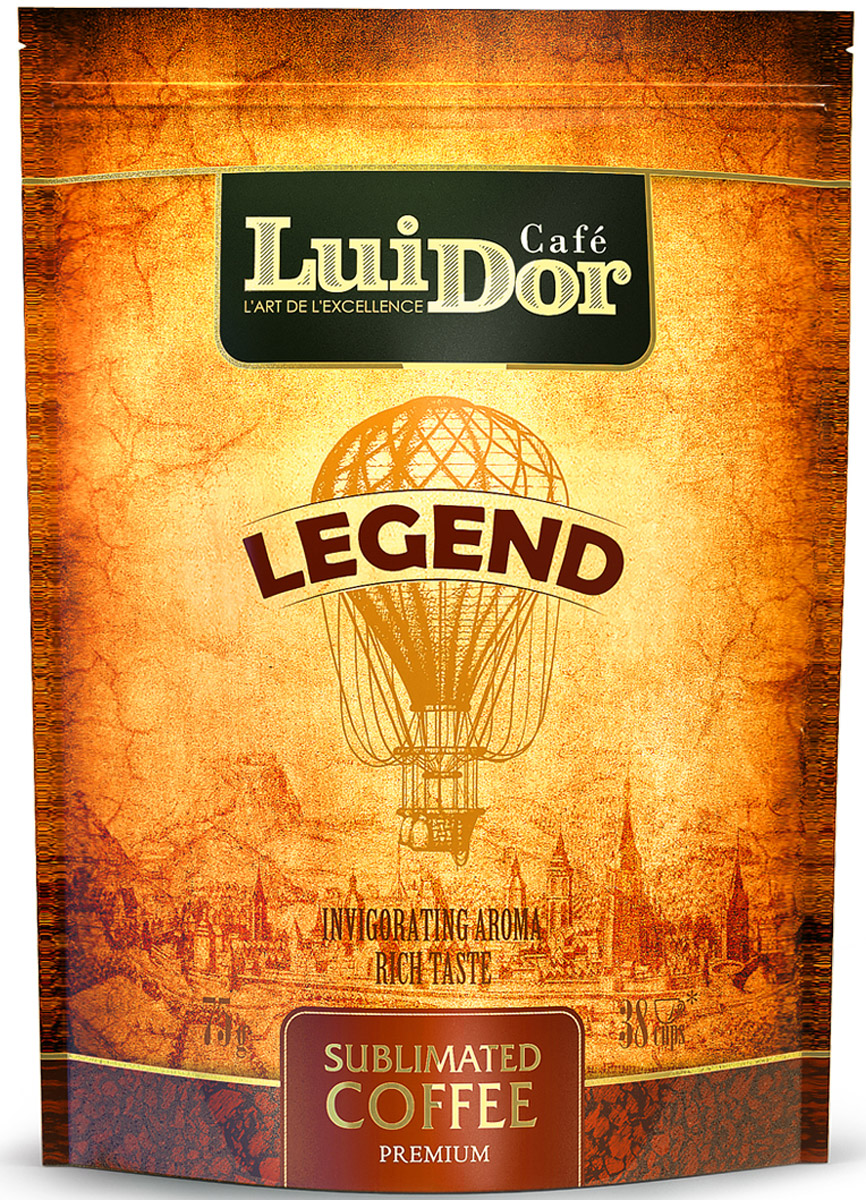 Luidor Legend кофе растворимый сублимированный, 75 г5060468280531Кофе LUIDOR Legend - оригинальное сочетание арабики из Гватемалы с добавлением робусты из Индонезии.