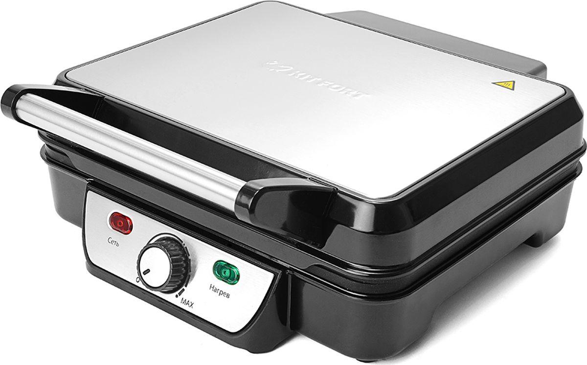 Kitfort КТ-1626 электрогрильКТ-1626Контактный электрический гриль Kitfort КТ-1626 позволяет приготовлять стейки, овощи, рыбу, бутерброды, гренки и многое другое. Ребристая поверхность рабочих пластин и высокая температура приготовления способствуют удалению излишков жира из продуктов. Конструкция 2 в 1 позволяет использовать гриль в двух режимах. В двухстороннем режиме гриль закрывается крышкой, и продукты готовятся одновременно с двух сторон. В одностороннем режиме крышка гриля откидывается на 90°, и гриль превращается в жаровню.