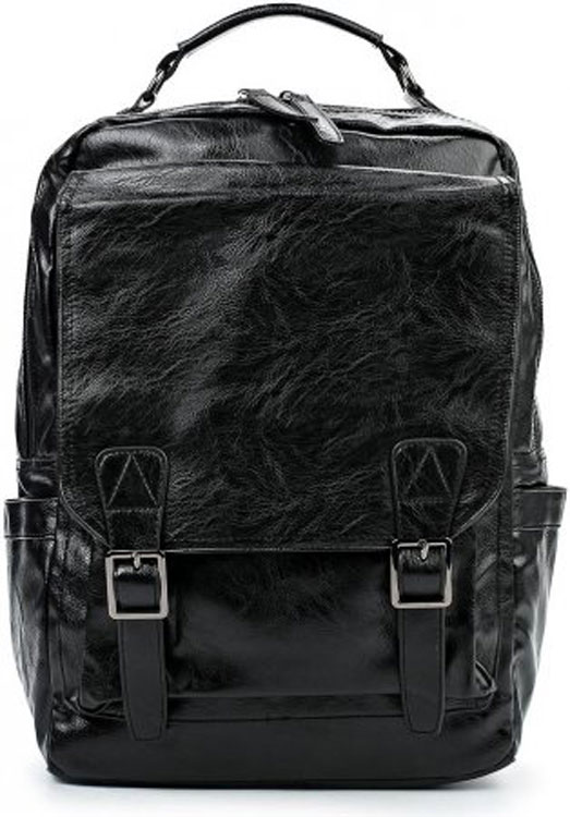 Рюкзак Flioraj, цвет: черный. 06010601 чернСтильный и практичный рюкзак Flioraj отлично подходит для прогулок, путешествий и учебы.Рюкзак удобен и функционален, сшит из прочной высококачественной экокожи. В нем есть все, что нужно: одно основное отделение, закрывающееся на застежку-молнию, и 4 внутренних кармана: карман на молнии, открытый карман и два кармана для мобильного телефона. Снаружи рюкзак дополнен тремя карманами на молниях и двумя открытыми карманами.Рюкзак имеет широкие лямки регулируемой длины и ручку для переноски в руке.Такой рюкзак - простая и удобная вещь на каждый день.