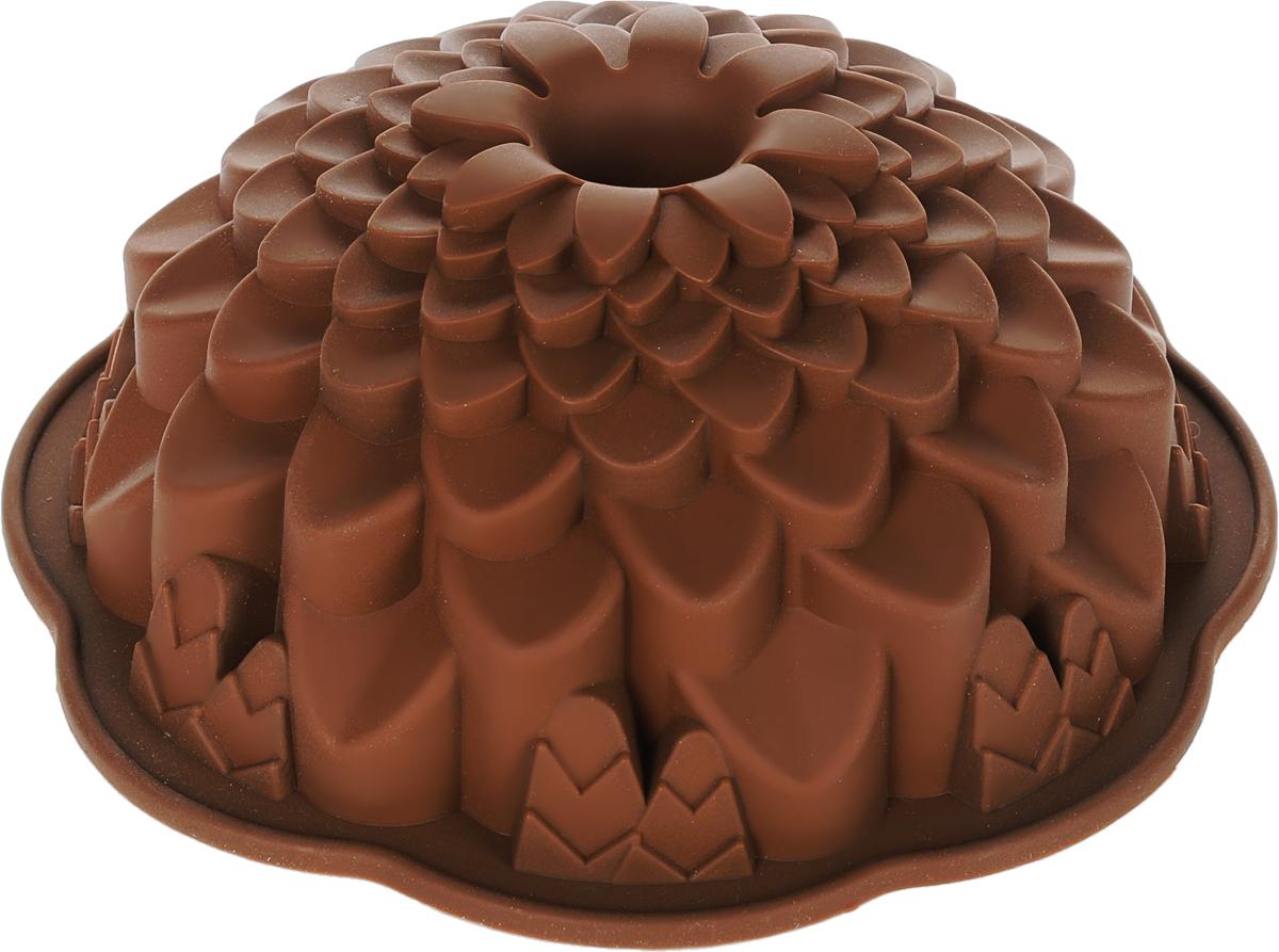 Форма для выпечки Marmiton Хризантема, цвет: коричневый, диаметр 21,5 см16045_коричневыйФигурная форма для выпечки Marmiton Хризантемабудетотличным выбором для всех любителей бисквитов икексов. Благодаря тому, что форма изготовлена изсиликона, готовую выпечку или мармелад выниматьлегко и просто. С такой формой вы всегда сможетепорадовать своих близких оригинальной выпечкой.Материал устойчив к фруктовым кислотам, можетбыть использован в духовках, микроволновых печах иморозильных камерах (выдерживает температуру от+240°C до -50°C). Можно мыть и сушить впосудомоечной машине.