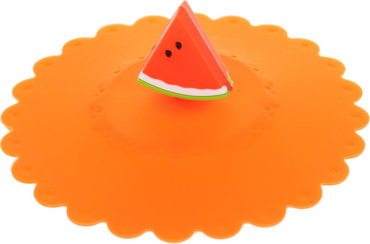 Крышка Доляна Арбуз, цвет: оранжевый, 11 см1210611_оранжевыйКрышка Доляна Арбуз станет незаменимым помощником любой современной хозяйки!Она выполнена из безопасного пищевого силикона, устойчивого к температурам от -40 до +250 градусов. Изделие не впитывает посторонние запахи, удобно в транспортировке и хранении.Яркие цвета и необычная форма ручки привлекут внимание любого посетителя вашей кухни, а вам поможет не потерять крышку среди остальной посуды.Диаметр крышки: 11 см.