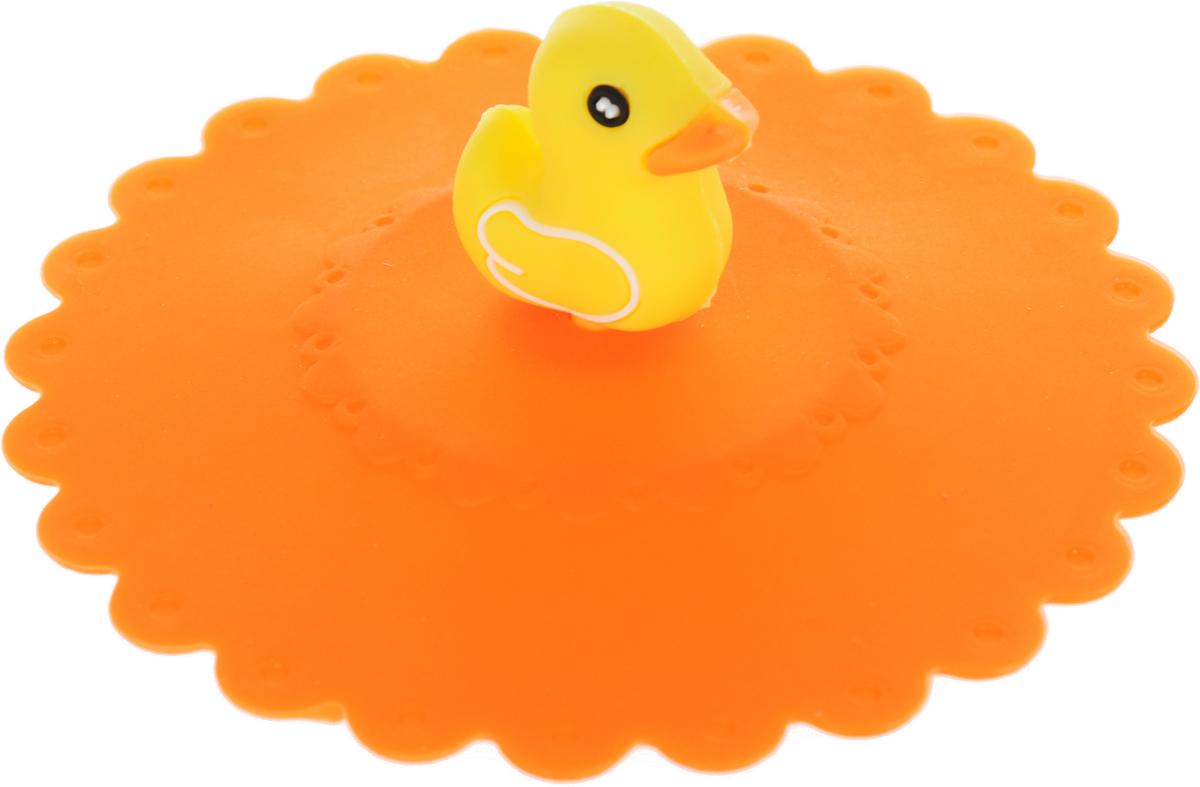 Крышка Доляна Уточка, цвет: оранжевый, 11 см1687498_оранжевыйКрышка Доляна Клубничка станет незаменимым помощником любой современной хозяйки! Онавыполнена из безопасного пищевого силикона, устойчивого к температурам от -40 до +250градусов. Изделие не впитывает посторонние запахи, удобно в транспортировке и хранении.Яркие света и необычная форма ручки привлекут внимание любого посетителя вашей кухни, а вампоможет не потерять крышку среди остальной посуды.Диаметр крышки: 11 см.
