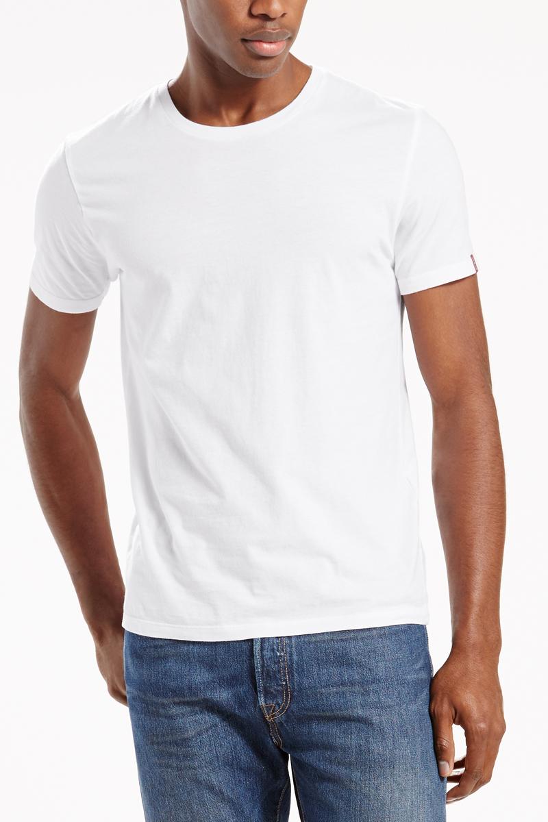 Футболка мужская Levis®, цвет: белый, 2 шт. 8217600020. Размер XS (44)8217600020Удобные, мягкие, облегающие футболки с округлым вырезом. В упаковке две штуки.