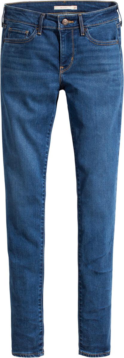 Джинсы женские Levis® 711, цвет: синий. 1888102510. Размер 26-32 (42-32)1888102510Стильные узкие джинсы превосходно облегают фигуру и создают шикарный силуэт. Помогают создать неповторимый повседневный образ.