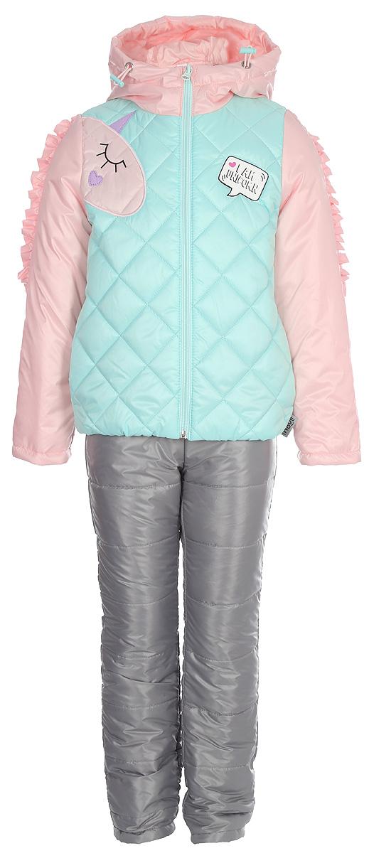 Комплект верхней одежды для девочки Boom!: куртка, брюки, цвет: мятный. 80026_BOG. Размер 86 sfu2510 950mm ballscrew with end machined bk20 bf20 support cnc parts