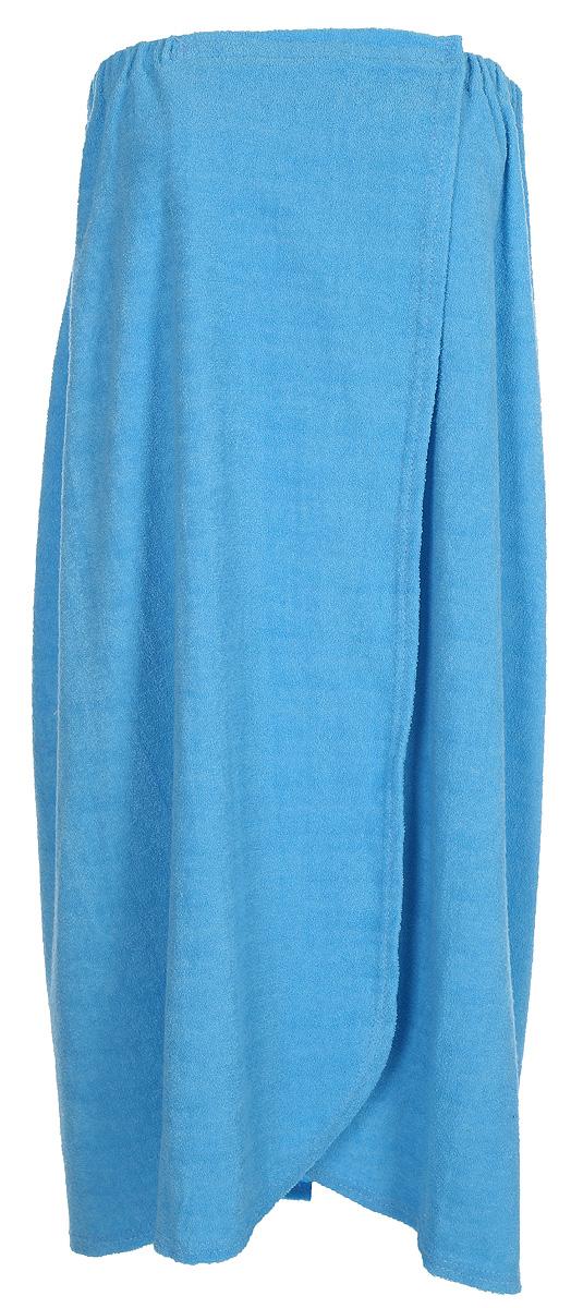 Парео для бани и сауны Главбаня, женское, цвет: голубой, длина 77 смБ262_голубойПарео для бани и сауны Главбаня, женское, цвет: голубой, длина 77 см