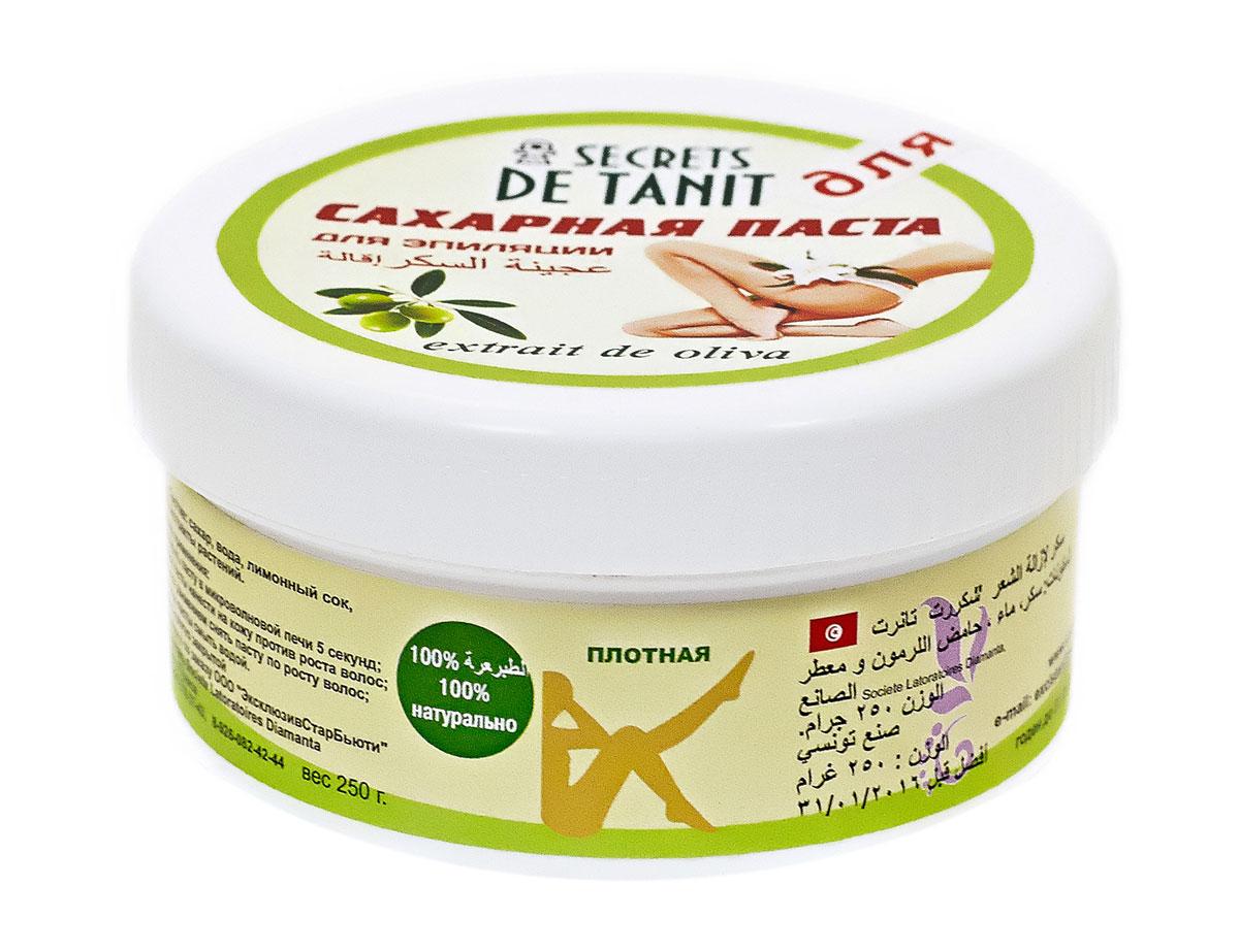 Secrets de Tanit Сахарная паста для эпиляции c экстрактом оливки, 250 г88100% натуральное средство для удаления волос со всех участков тела. Экстракт оливки регенерирует и успокаивает кожу. Плотная.