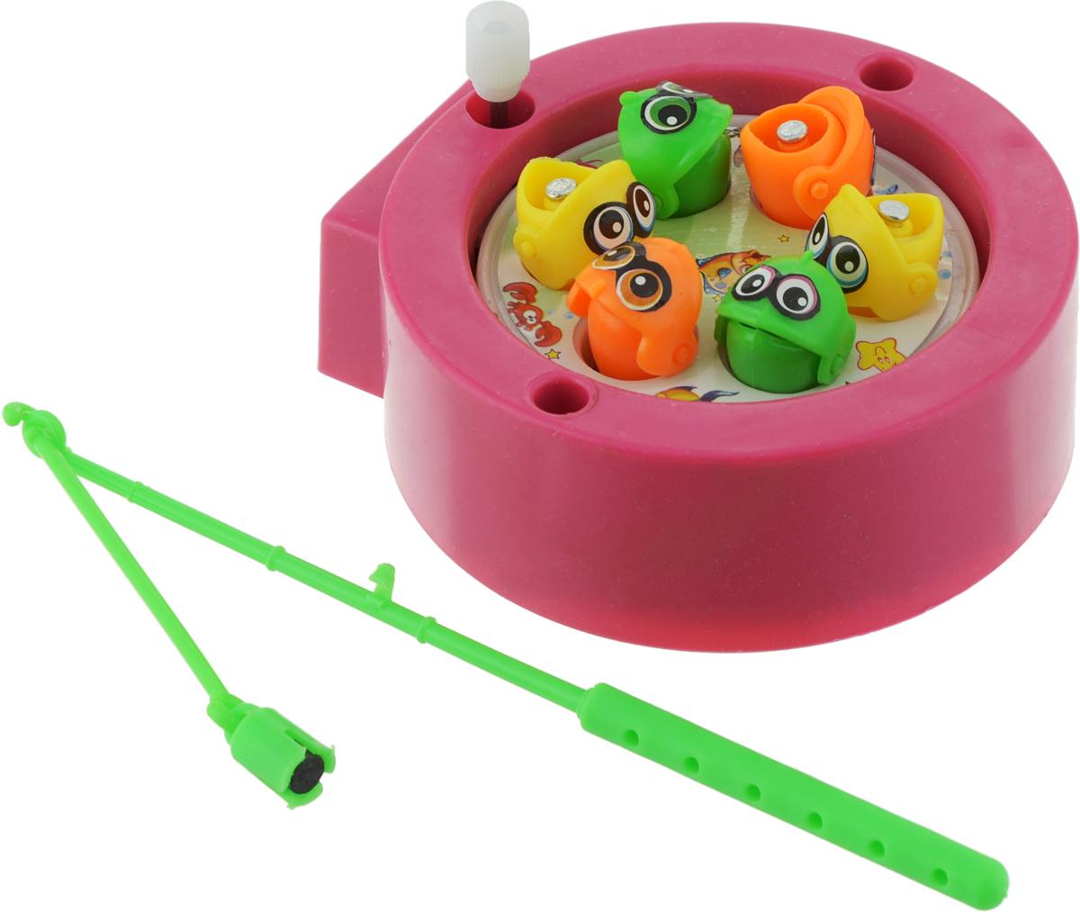 Bampi Обучающая игра Магнитная рыбалка L031 цвет розовый