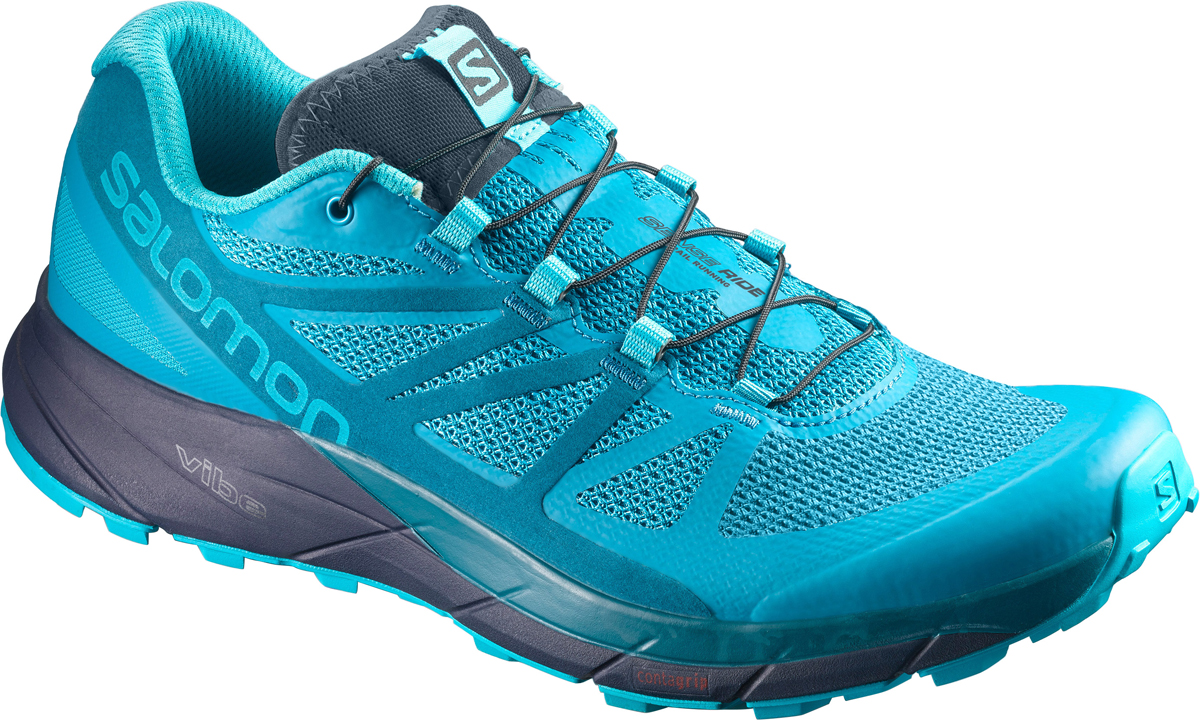 Кроссовки для бега женские Salomon Sense Ride W, цвет: голубой. L39847700. Размер 7 (39)